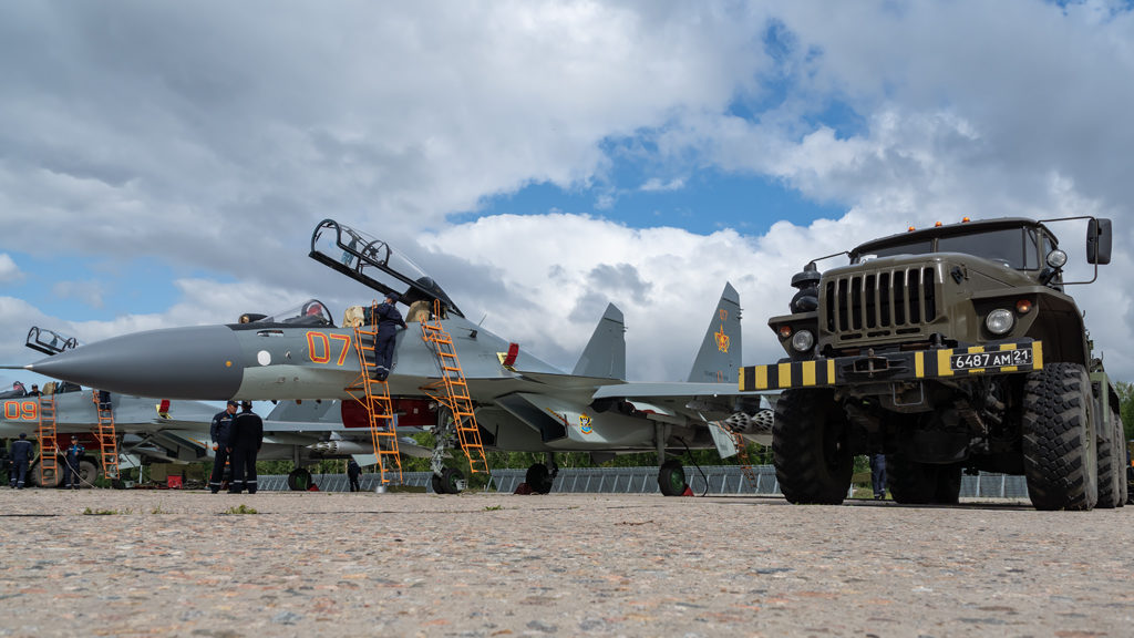 Авиадартс-2019. Подготовка Су-30СМ ВВС Казахстана