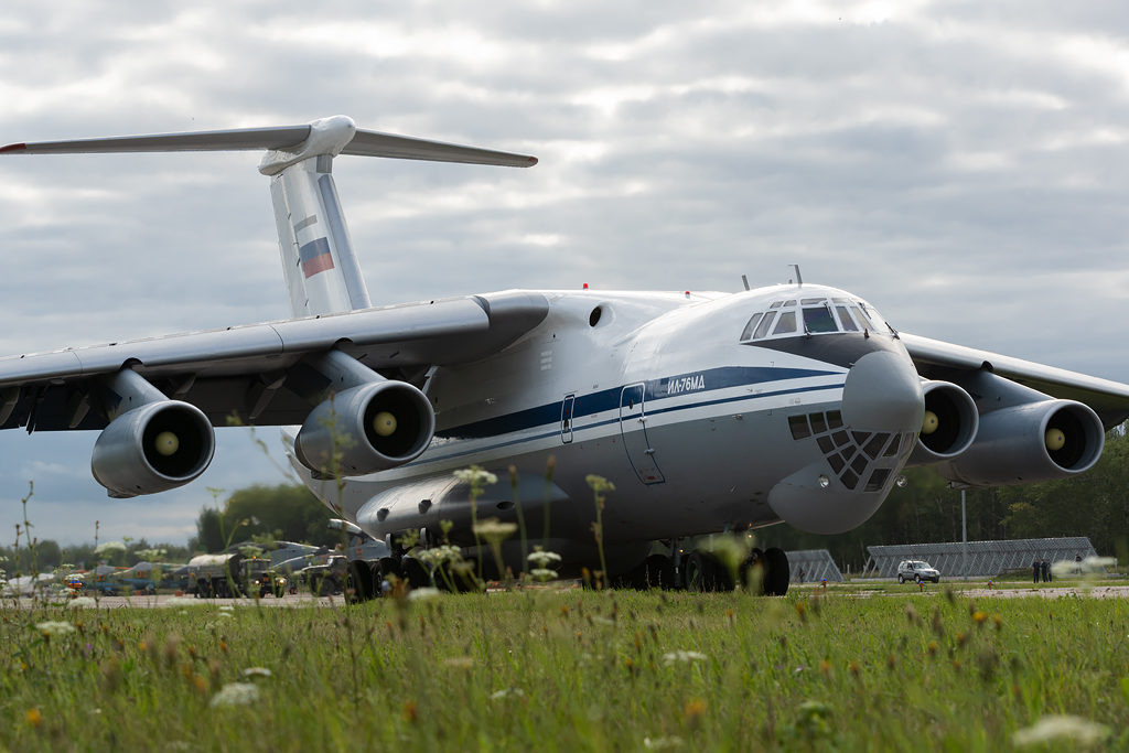 Авиадартс-2019. Ил-76 на рулении
