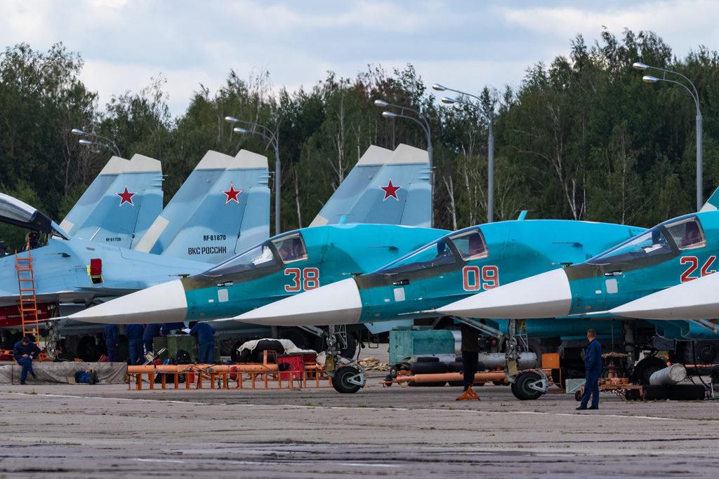 Авиадартс-2019. Стоянка Су-34