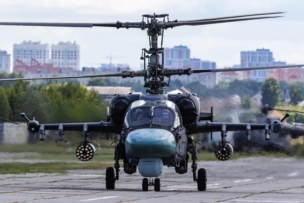 Авиадартс-2019. Ка-52 на рулении