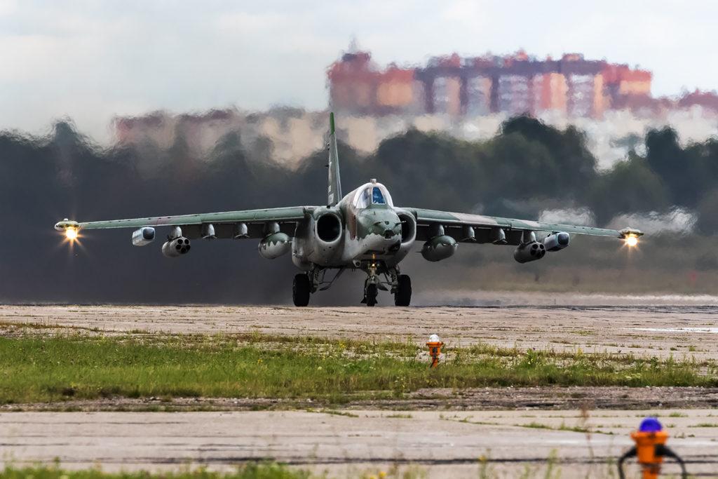 Авиадартс-2019. Су-25 на исполнительном