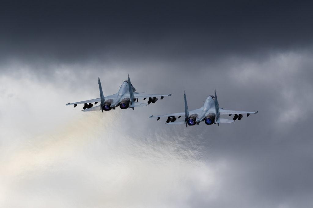Авиадартс-2019. Взлет пары Су-30СМ