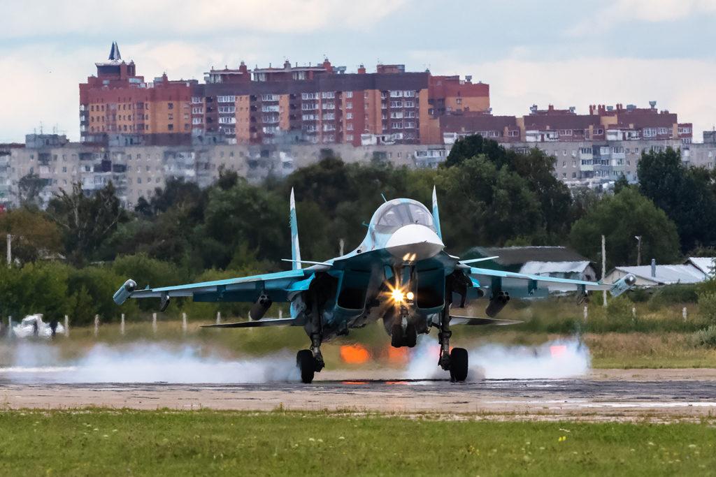 Авиадартс-2019. Посадка Су-34