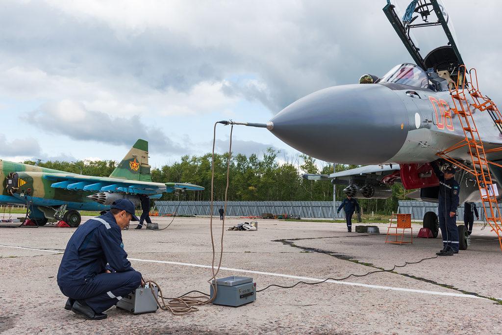 Авиадартс-2019. Подготовка Су-30СМ ВВС Казахстана.