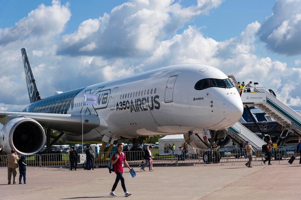 Airbus 350-900 на МАКС-2019
